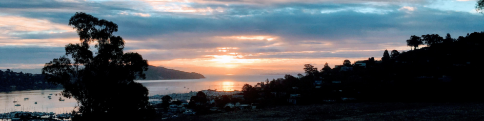 Sunrise over San Francisco Bay Area this morning